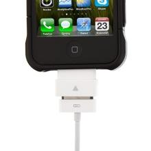 Prodlužovací nabíjecí 30 pinový konektor pro Apple iPhone / iPad / iPod - bílý