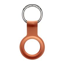 Kryt / obal DEVIA pro Apple AirTag - kovový kroužek - silikonový - oranžový