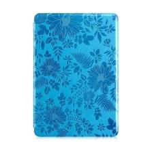 Ochranné pouzdro DEVIA pro Apple iPad mini / mini 2 / mini 3 se stojánkem a funkcí chytrého uspání - textura květů - modré