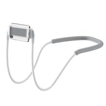 "Stojánek / držák BASEUS pro Apple iPhone / iPad (4 - 10"") - ohebný - za krk - bílý"