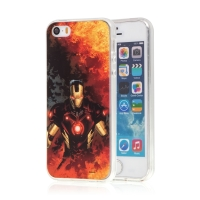 Kryt MARVEL pro Apple iPhone 5 / 5S / SE - Iron Man - gumový