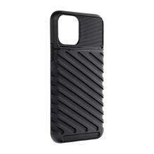 Kryt FORCELL Thunder pro Apple iPhone 11 Pro - šikmé pruhy - gumový - černý