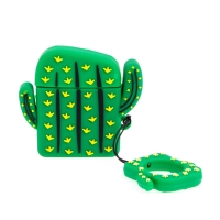 Pouzdro / obal pro Apple Airpods - silikonové - kaktus