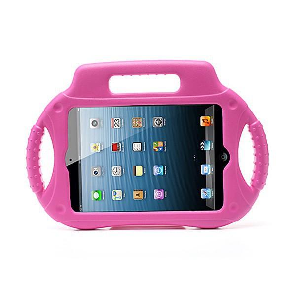 Ochranné pěnové pouzdro pro děti na Apple iPad mini / mini 2 / mini 3 s rukojetí a stojánkem - růžové