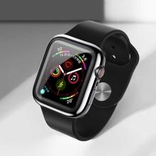 Kryt USAMS pro Apple Watch 44mm Series 4 / 5 - 360° ochrana - gumový - průhledný / černý