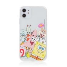 Kryt Sponge Bob pro Apple iPhone 12 mini - gumový - Sponge Bob s kamarády