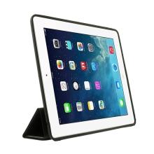 Pouzdro / kryt pro Apple iPad 2 / 3 / 4 - funkce chytrého uspání + stojánek - černé