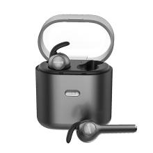 Sluchátka Bluetooth bezdrátová SWISSTEN Airbuds - s dobíjecí krabičkou / pouzdrem - černá