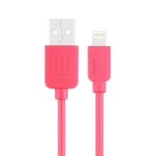 Synchronizační a nabíjecí kabel HAWEEL - Lightning pro Apple zařízení - růžový - 1m