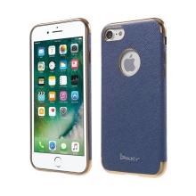 Kryt IPAKY pro Apple iPhone 7 / 8 - výřez pro logo / gumový - modrý