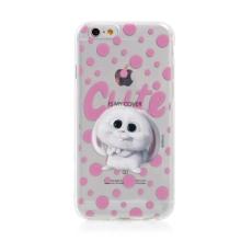 Kryt Tajný život mazlíčků pro Apple iPhone 6 / 6S - gumový - průhledný / králík Snížek