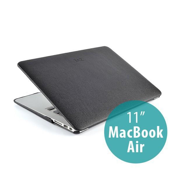 Ochranný plastový obal ZVE pro Apple MacBook Air 11 - povrchová úprava - umělá kůže - černé