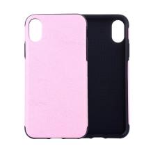 Kryt pro Apple iPhone Xr - pevný - umělá kůže - růžový