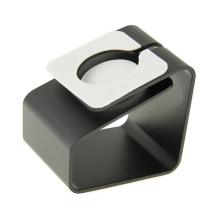 Hliníkový nabíjecí stojánek pro Apple Watch 38mm / 42mm Series 1 / 2 / 3 - matný - černý