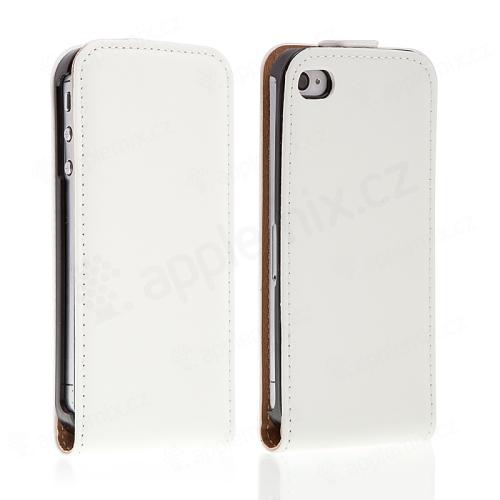 Kryt pro iPhone 4 / 4S vyklápěcí ve stylu krokodýlí kůže