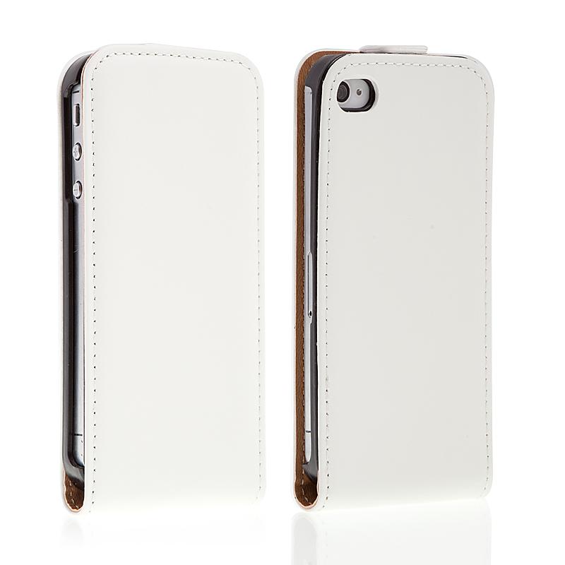 Pouzdro / Kryt pro iPhone 4 / 4S vyklápěcí - magnetické zavírání - bílý