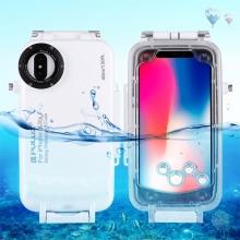 Pouzdro vodotěsné PULUZ pro Apple iPhone X / Xs s odolností do 40m hloubky (IPX8) - průhledné / bílé