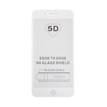 "Tvrzené sklo (Tempered Glass) ""5D"" pro Apple iPhone 7 Plus / 8 Plus - 2,5D - bílý rámeček - čiré - 0,3mm"