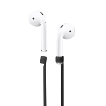 Šňůrka / úchyt pro Apple AirPods - svítící ve tmě - silikonová - černá