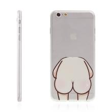 Kryt pro Apple iPhone 6 Plus / 6S Plus gumový - ochrana čočky fotoaparátu a antiprachová záslepka - holý zadek