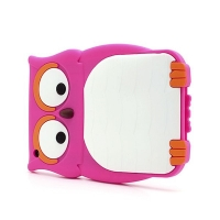 Ochranný silikonový kryt pro Apple iPad mini / mini 2 / mini 3 - 3D sova - růžový