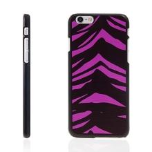 Plastový kryt pro Apple iPhone 6 / 6S - vzor zebra - černý / růžový