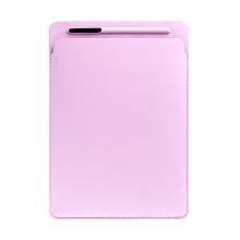 Pouzdro / obal pro Apple iPad Pro 12,9 / 12,9 (2017) - kapsa na Apple Pencil - umělá kůže - růžové