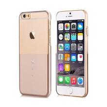 Plastový kryt DEVIA pro Apple iPhone 6 / 6S - průhledný / zlatý s kamínky Swarovski