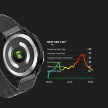Fitness chytré hodinky - tlakoměr / krokoměr / měřič tepu a EKG - Bluetooth - vodotěsné - černé