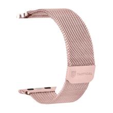 Řemínek TACTICAL pro Apple Watch 41mm / 40mm / 38mm - nerezový - růžový
