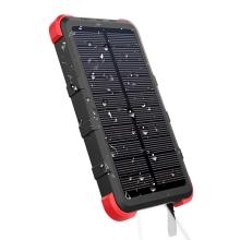 Solární externí baterie / power bank OUTXE - 10000 mAh - IP 67 - černá