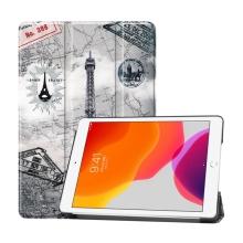 """Pouzdro / kryt pro Apple iPad 10,2"""" (2019-2020) - funkce chytrého uspání + stojánek - plastová záda - Eiffelovka"""