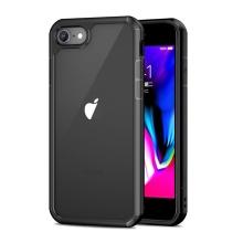 Kryt IPAKY pro Apple iPhone 7 / 8 / SE (2020) - plastový / gumový - průhledný / černý