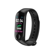 Sportovní fitness náramek M3 - tlakoměr / krokoměr / měřič tepu - Bluetooth - vodotěsný - černý