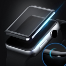 Tvrzené sklo (Tempered Glass) MOCOLO pro Apple Watch 44mm Series 4 - 3D okraj - černé / čiré