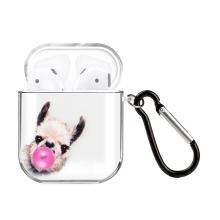 Pouzdro / obal pro Apple AirPods - gumové - lama s bublinou