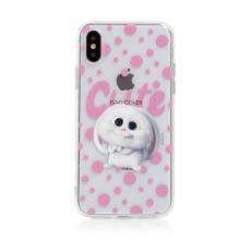 Kryt Tajný život mazlíčků pro Apple iPhone X / Xs - gumový - průhledný / králík Snížek