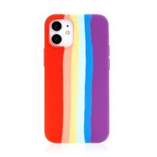Kryt pro Apple iPhone 12 mini - silikonový - duhový