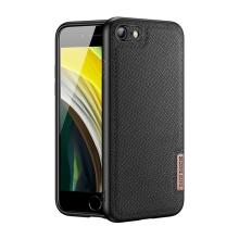 Kryt DUX DUCIS Fino pro Apple iPhone 7 / 8 / SE (2020) - gumový / látkový - černý