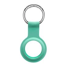 Kryt / obal DEVIA pro Apple AirTag - kovový kroužek - silikonový - mátově zelený