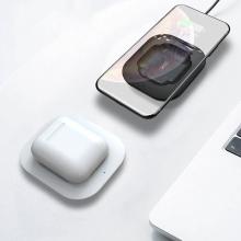 Bezdrátová nabíječka / nabíjecí podložka XO WX-017 Qi pro Apple AirPods Qi / AirPods Pro - černá