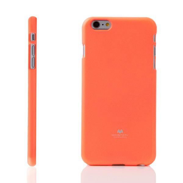 Gumový kryt Mercury pro Apple iPhone 6 Plus / 6S Plus - jemně třpytivý - neonově oranžový