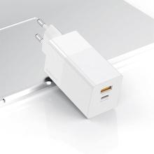 Nabíječka / EU adaptér KUULAA pro Apple zařízení - USB-C / USB - 65W (PD 3.0) - bílá