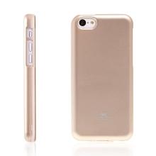Gumový kryt Mercury pro Apple iPhone 5C - jemně třpytivý - zlatý