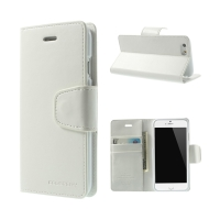 Pouzdro Mercury Sonata Diary pro Apple iPhone 6 / 6S - stojánek a prostor na doklady - bílé