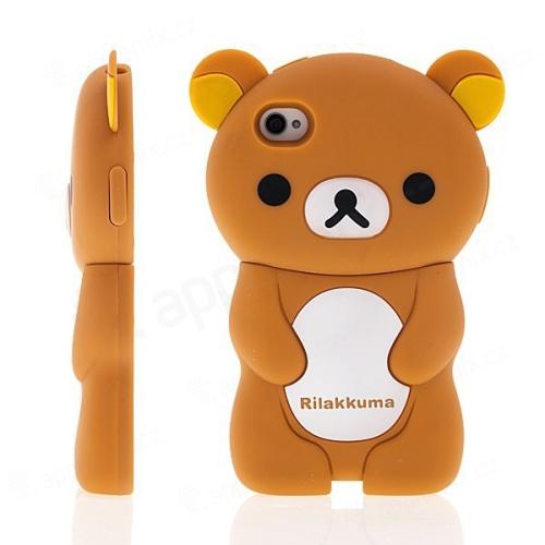 Kryt pro Apple iPhone 4 / 4S - medvídek Rilakkuma