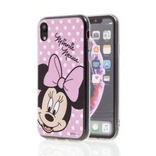 Kryt pro Apple iPhone Xr - Minnie - růžový - gumový