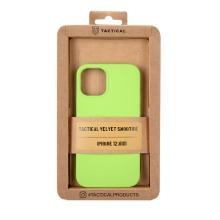 Kryt TACTICAL Velvet Smoothie pro Apple iPhone 12 mini - příjemný na dotek - silikonový - avokádově zelený