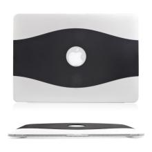Ultra tenký gumový obal pro Apple MacBook Air 13 - černo průhledný