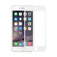 Tvrzené sklo (Tempered Glass) pro Apple iPhone 6 / 6S - bílý rámeček - 0,3mm